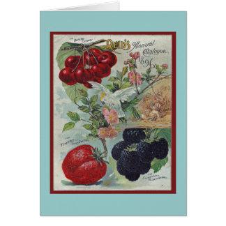 Cartão cumprimento do vintage dos jardineiro
