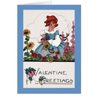 Cartão Cumprimento dos namorados do jardim