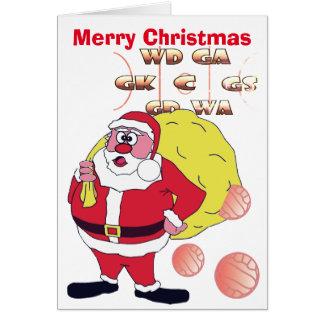 Cartão Cumprimento engraçado do Natal do Netball do papai