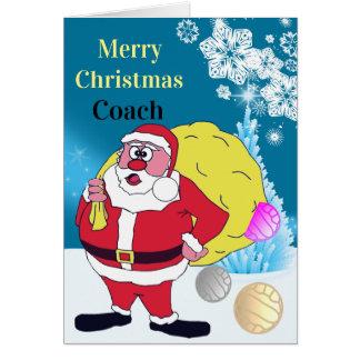 Cartão Cumprimento engraçado do Natal do treinador do