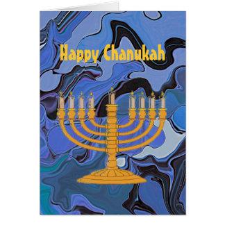 Cartão Cumprimento feliz de Chanukah