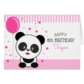 Cartão Cumprimento personalizado do aniversário de Cutie