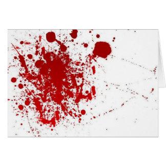 Cartão Cumprimento sangrento