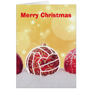 Cartão Cumprimento temático do Natal do Netball do amor