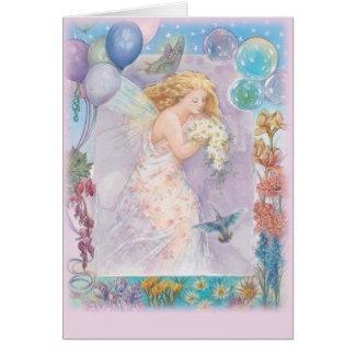 Cartão Cumprimento violeta feericamente Enchanting do