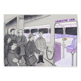 Cartão Cumprimentos a uma viagem ao trabalho do metro