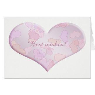 Cartão Cumprimentos. coração