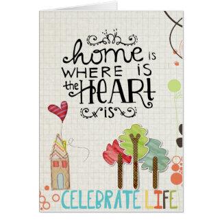 Cartão cumprimentos da adopção