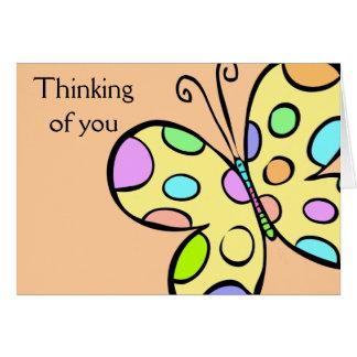 Cartão Cumprimentos da borboleta