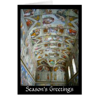 Cartão cumprimentos da capela de sistine