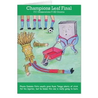 Cartão Cumprimentos da folha dos campeões