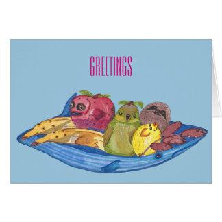 """Cartão Cumprimentos - da """"ilustração bonito dos animais"""