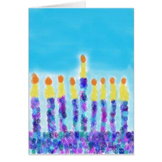 Cartão Cumprimentos de Chanukkah