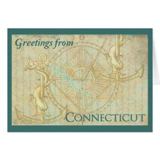 Cartão Cumprimentos de Connecticut