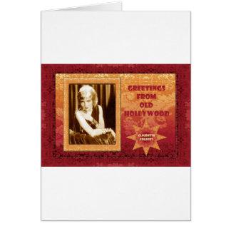Cartão Cumprimentos de Hollywood velho: Claudette Colbert