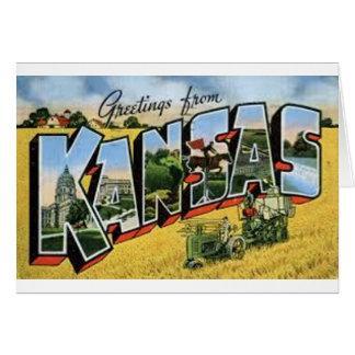 Cartão Cumprimentos de Kansas