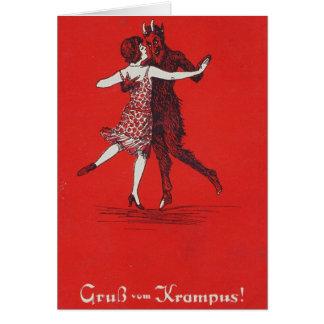 Cartão Cumprimentos de Krampus!