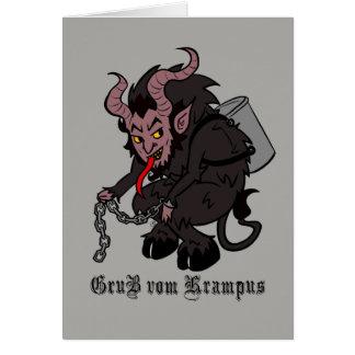 Cartão Cumprimentos de Krampus em Brown