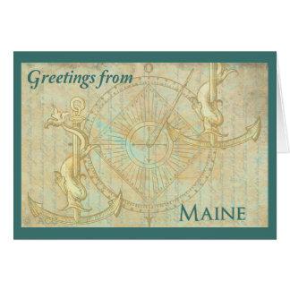 Cartão Cumprimentos de Maine