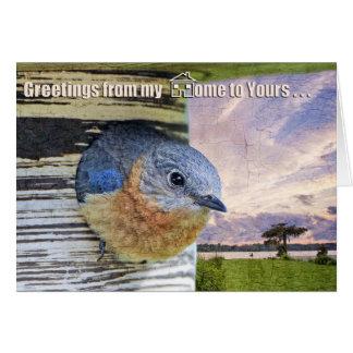 Cartão Cumprimentos de minha casa a seu…