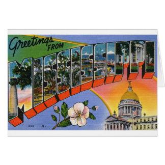 Cartão Cumprimentos de Mississippi