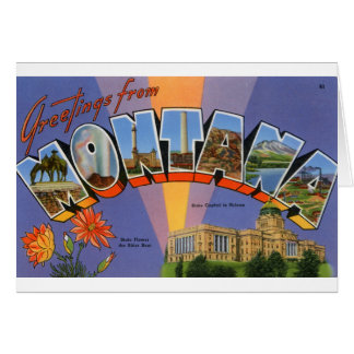 Cartão Cumprimentos de Montana