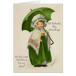 Cartão Cumprimentos de Ould Ireland - verso para dentro