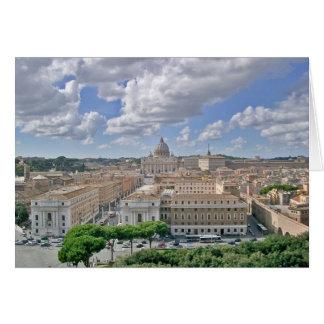 Cartão Cumprimentos de Seat papal