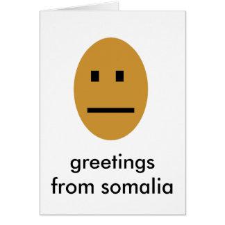 Cartão Cumprimentos de Somália