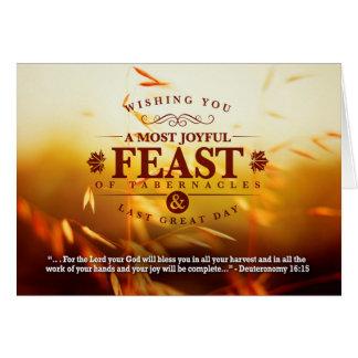 Cartão Cumprimentos do banquete da colheita da queda