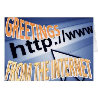 Cartão cumprimentos do Internet