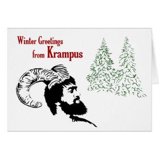 Cartão Cumprimentos do inverno de Krampus