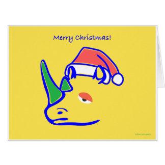 Cartão Cumprimentos do papai noel do Rhino