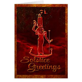 Cartão Cumprimentos do solstício