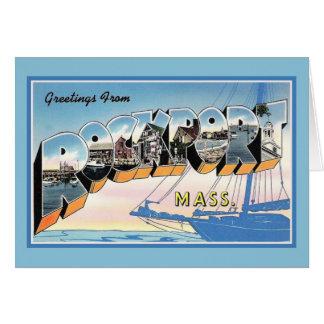 Cartão Cumprimentos do vintage de Rockport Massachusetts
