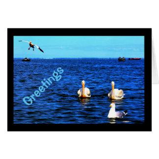 Cartão Cumprimentos do Winnebago bonito do lago