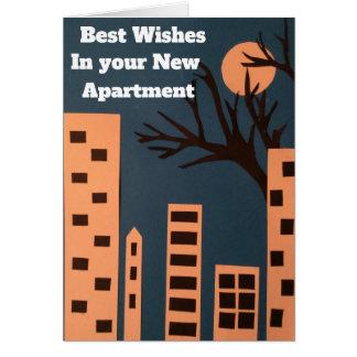Cartão Cumprimentos em seu apartamento novo
