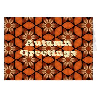 Cartão Cumprimentos florais do caleidoscópio do outono