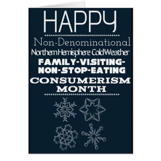 Cartão Cumprimentos Não-Confessionais 1 do inverno