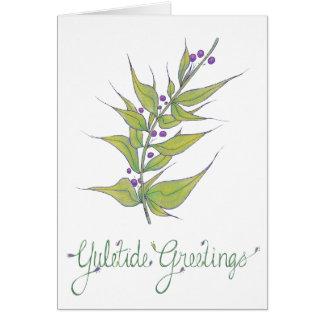 Cartão Cumprimentos naturais de Yuletide do Natal