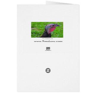 Cartão Cumprimentos no dia do peru, uma reflexão bonito