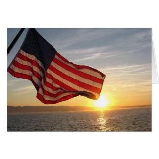 Cartão Cumprimentos patrióticos