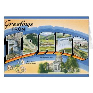 Cartão Cumprimentos retros de Idaho