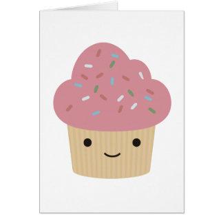 Cartão cupcake bonito