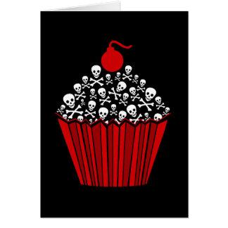 Cartão Cupcake do crânio