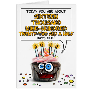 Cartão Cupcake do feliz aniversario - 46 anos velho