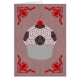 Cartão cupcake sagrado da geometria
