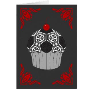 Cartão cupcake sagrado do futebol