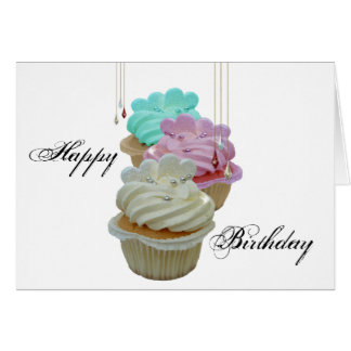 Cartão Cupcakes com Bling!