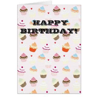 Cartão Cupcakes do aniversário